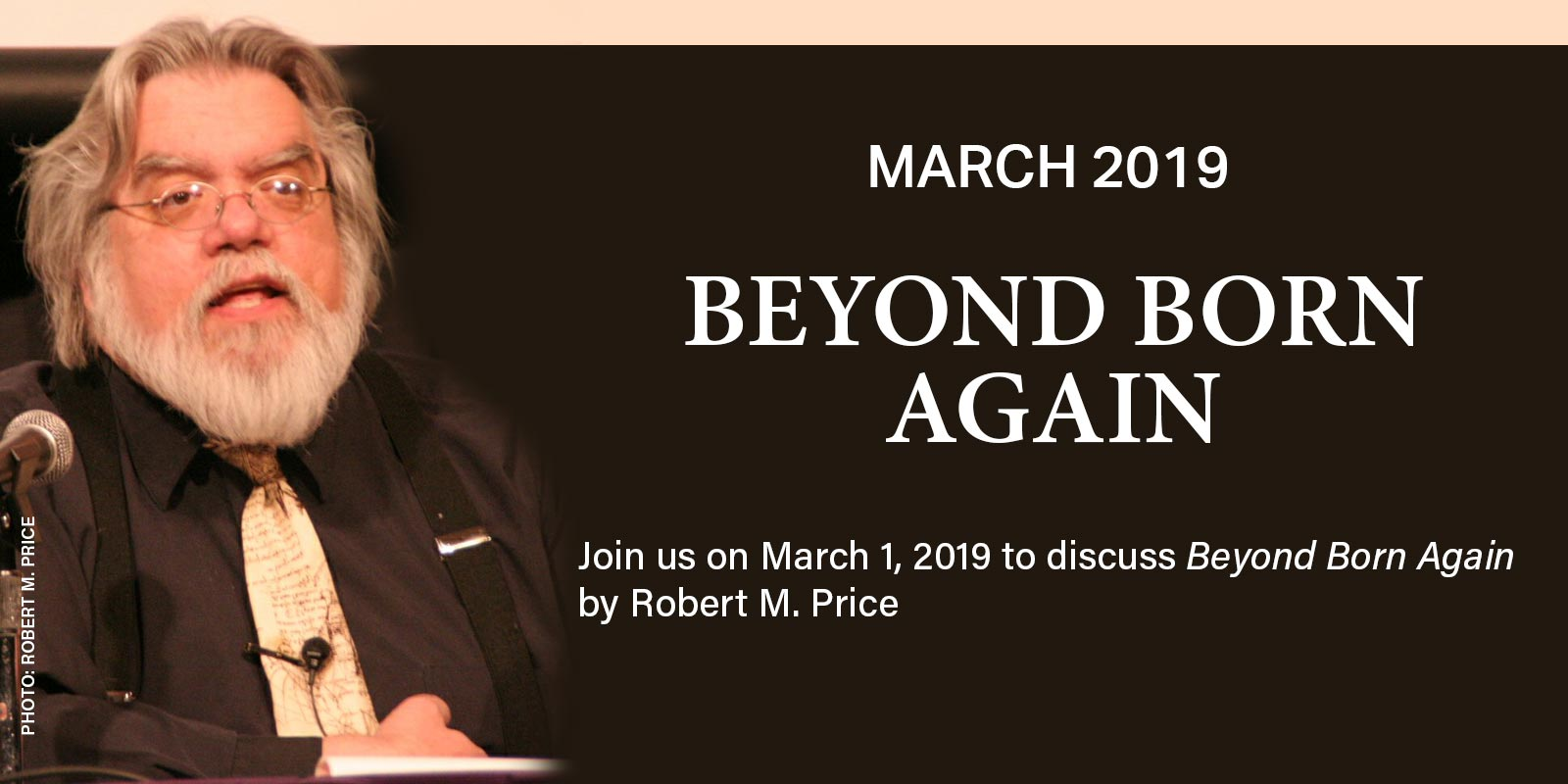 Join us on 3/1/19 to discuss Beyond Born Again